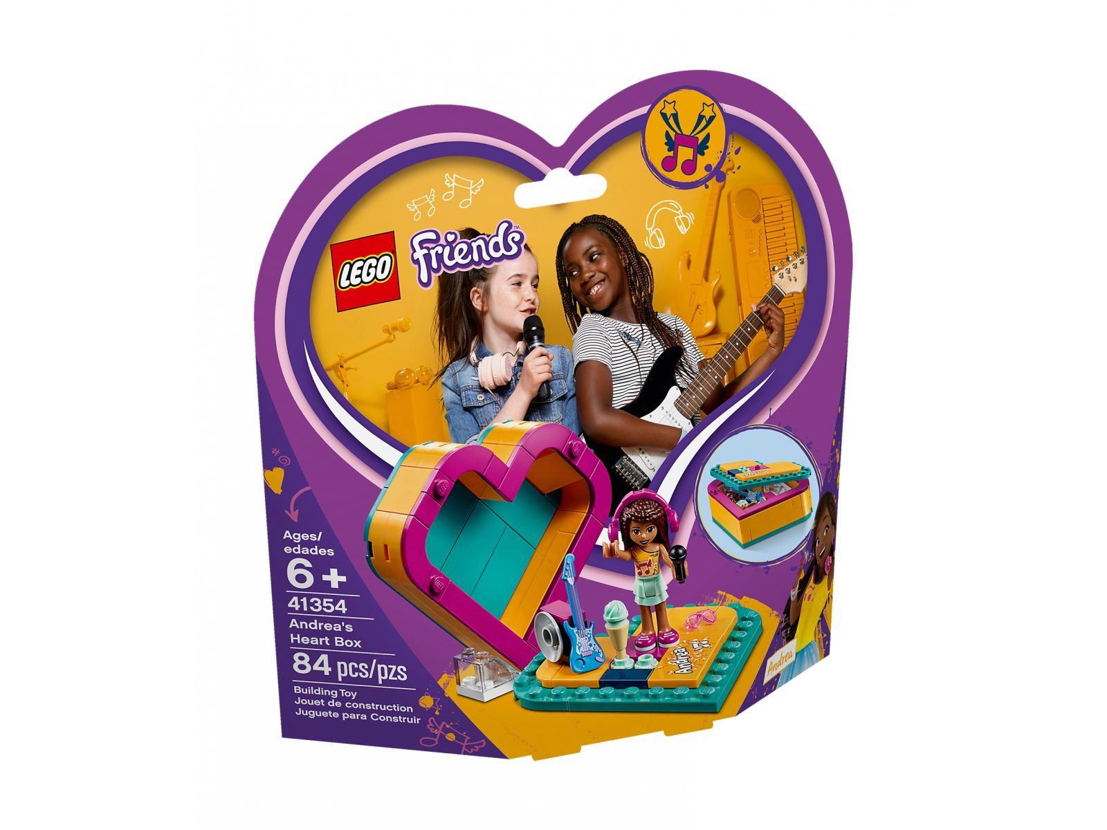 Lego 41354 Friends Pudelko W Ksztalcie Serca Andrei Porownaj Ceny Promoklocki Pl