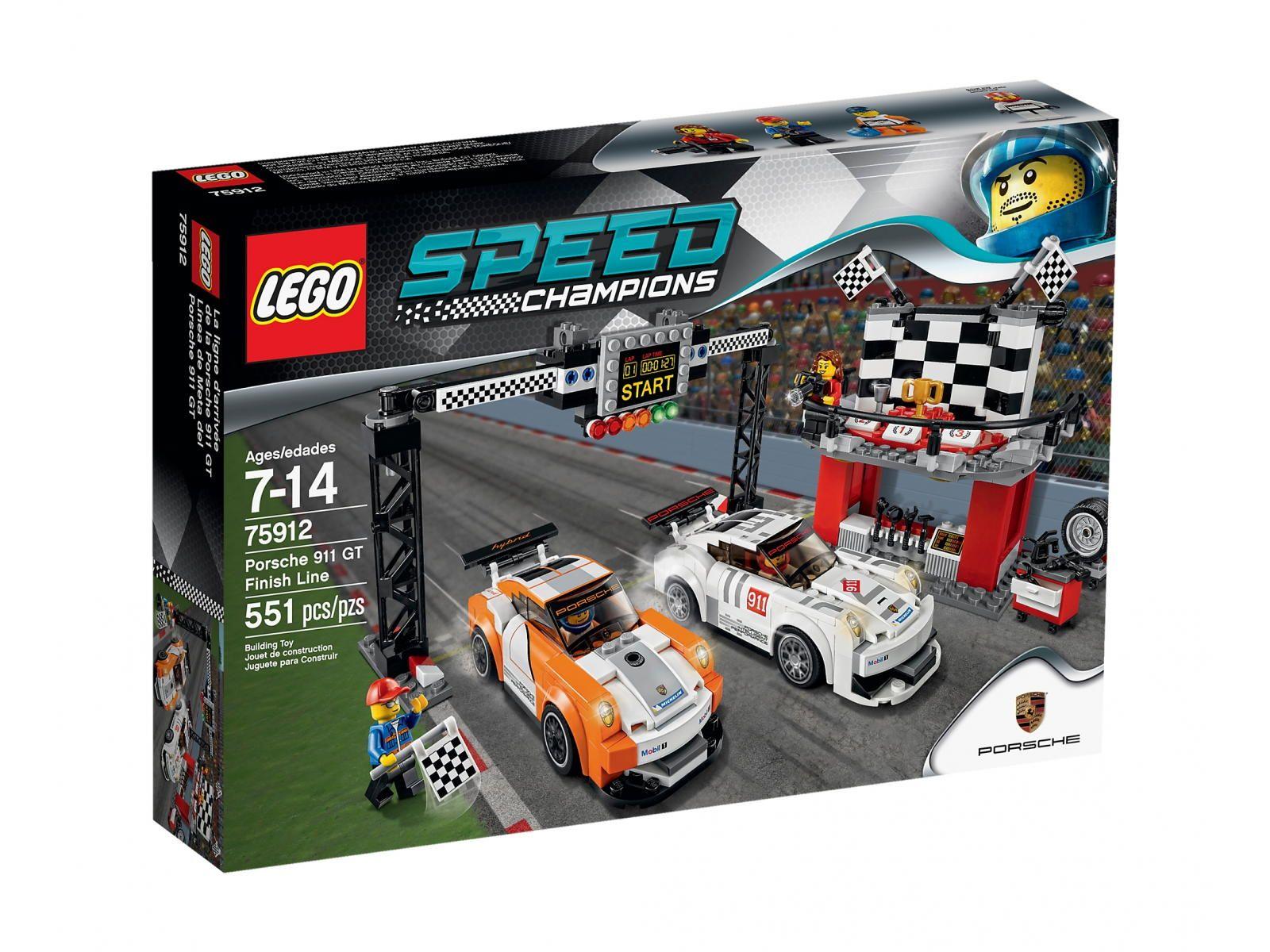 LEGO Speed Champions 75912 Porsche 911 GT, linia mety